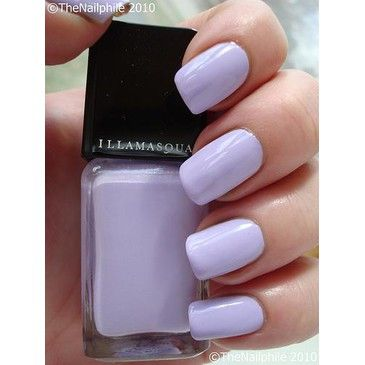 Lavender nails.