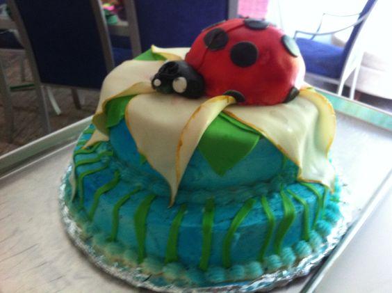 Ladybugs and flowers...