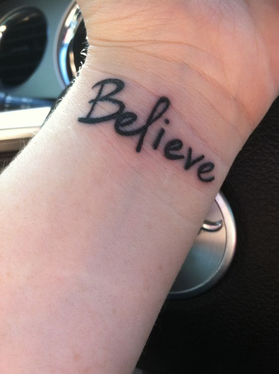 """Where would I be, if you didn't Believe"" -Justin Bieber! This Always gives me inspiration. I love having this on my wrist!"