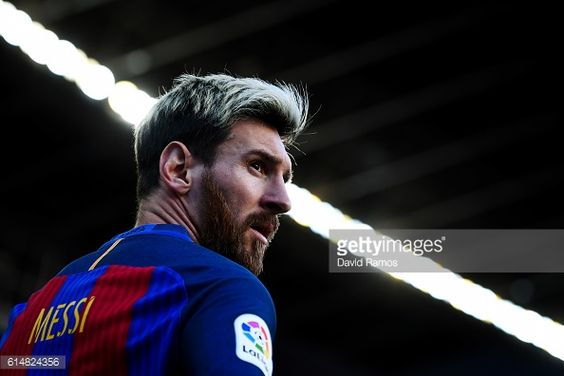 Lionel Messi of FC Barcelona looks on during the La Liga match between FC Barcelona and RC Deportivo La Coruna at Camp Nou stadium on October 15 2016...