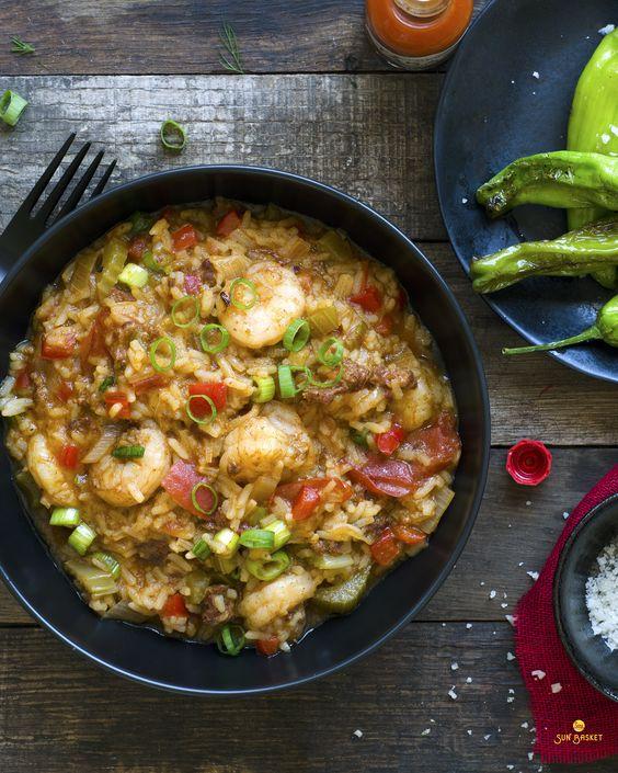 Cajun style rice with shrimp and chorizo #glutenfree