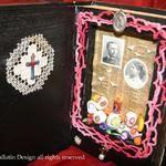 Dia De Los Muertos Altared Book Assemblage art by Laura Pallatin of LaBelle Mariposa