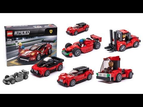NEW LEGO SPEED CHAMPIONS 75886 FERRARI 488 GT3 SCUDERIA CORSTA CAR  1 MINIFIGURE