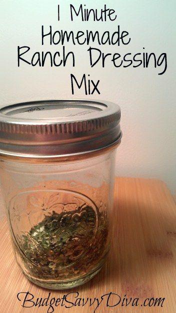 1 Minute Homemade Ranch Seasoning Mix Recipe