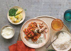 tomato chickpea curry w chicken