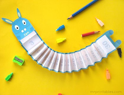 Monthters... Printable Monthly Calendar for Kids | Mr Printables
