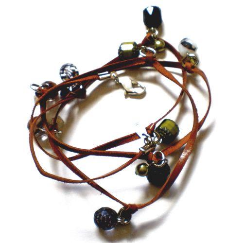 Wrap Around Bracelet by Etelage. D.I.Y. project.