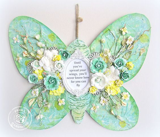 Inspirational OTP Butterfly- Prima's Free Spirit collection:
