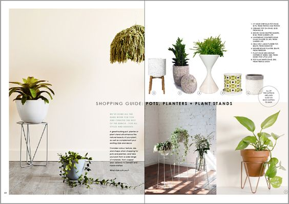 Shopping Guide: The best pots, planters and plants stands from Decorating with Plants - FREE 84 page emag by We Are Scout. #freedownloadable #emag #indoorplants #pots #planters #plantstands