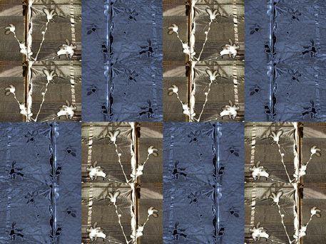 """'Stoffdesign """"Sternmagnolien am Bau 8 150""""' von Rudolf Büttner bei artflakes.com als Poster oder Kunstdruck $18.71"""