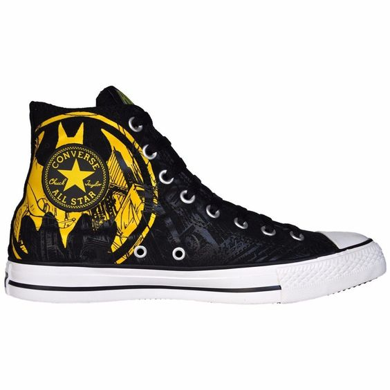 CONVERSE SCHUHE ALL STAR CHUCKS UK 6 EU 39 BATMAN BLACK YELLOW MARVEL DC COMIC in Kleidung & Accessoires, Damenschuhe, Turnschuhe & Sneaker | eBay