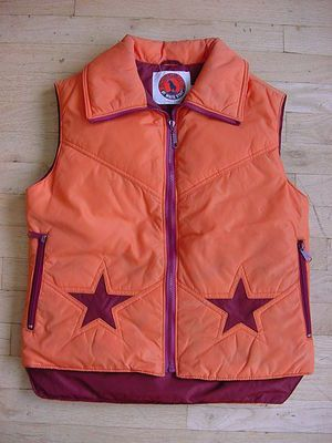 Canada Goose montebello parka replica price - Vintage 70s 80s Mens GOOSE Down Neon Orange Ski Snow Vest Jacket ...