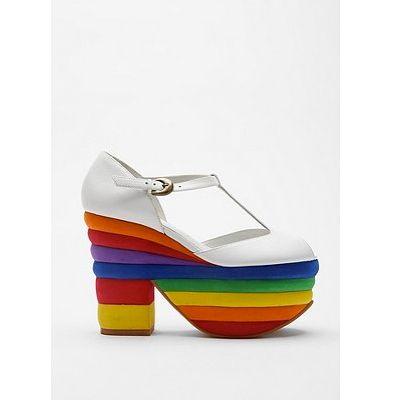 #shoes #platform #rainbow