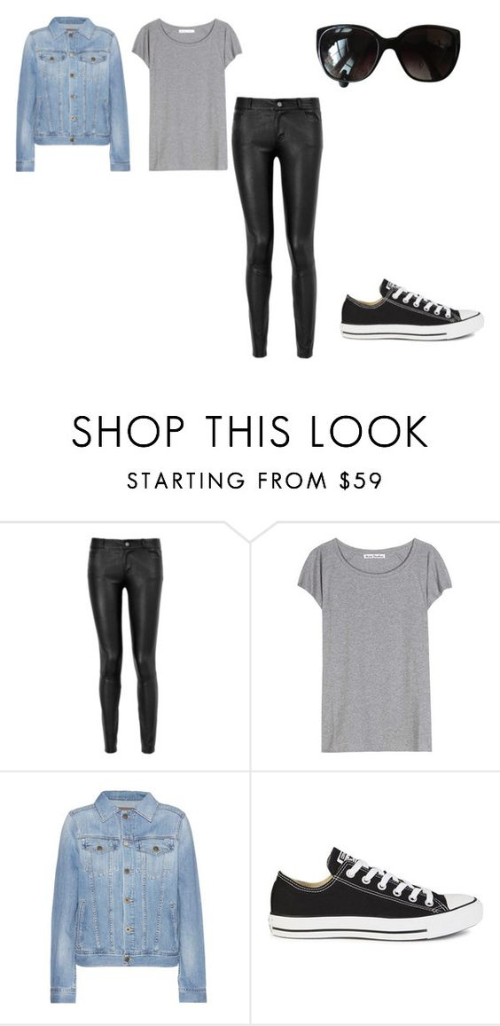 """"""":)"""" by bianca-b-santos on Polyvore featuring Paige Denim, Acne Studios, AG Adriano Goldschmied, Converse e Chanel"""