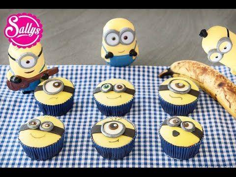 Minion Muffins / Minion Cupcakes / Bananenmuffins / die Minions zu Besuch in meiner Küche - Murat vor der Kamera - YouTube
