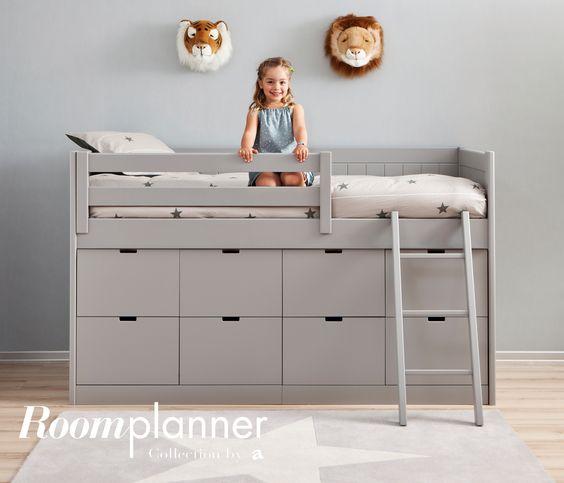 lit mezzanine babel lit en hauteur avec 8 tiroirs pour un maximum de rangement - Mezzanine Chambre Hauteur