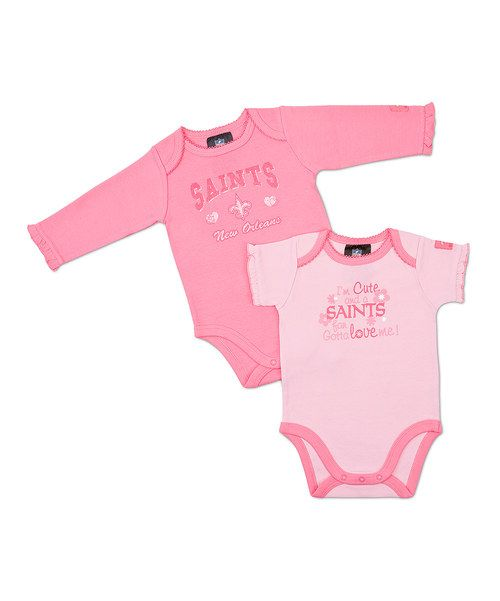 Tackle sweet sideline style with this cuddly set. Sporting a fantastic print, cozy cotton and handy lap neck and snap closures, these football-friendly pieces exemplify touchdown trends. Includes two bodysuits100% cottonMachine wash; tumble dryImported