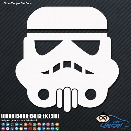 Star Wars Storm Trooper Car Window Decal Arent You A Little - Car window decals near mestar trek family car decals thinkgeek