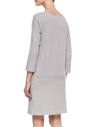 Keep your Spring 2014 look minimalist chic with our Joan Vass Knit Zip-Pocket Shift Dress, available at NeimanMarcus.com. #JoanVass #NeimanMarcus #ShiftDress #Shift #Grey #GreyDress #ZipperDetail #Zipper #Detail #Minimalist #Minimal #Chic #Style #Fashion #Structure #MinimalistStyle #Inspiration