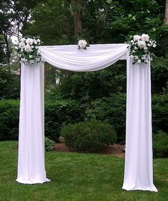 Tulle Decorated Wedding Arches   Any of Dream Days Rental Items can be added to any package shown below
