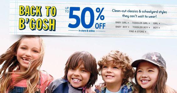 OshKosh/ Carter's tiene hoy el 50% de descuento   Ingresa aquí para ver los estilos: http://bit.ly/1nZnwJX  CPX: Seguro recibes, seguro mandas.