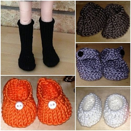 Free Pattern - Crocheted Doll Shoes | 500x500