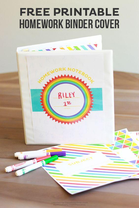 Organize homework binder for kids