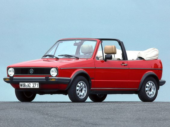 My first car! Oh I miss it so much. Volkswagen  cabriolet but ice blue