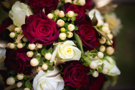 Rustic Burgundy and Gold Bouquet