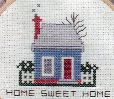Counted Cross Stitch Mini Kit Home Sweet Home Busy Hands  Beginner's Kit
