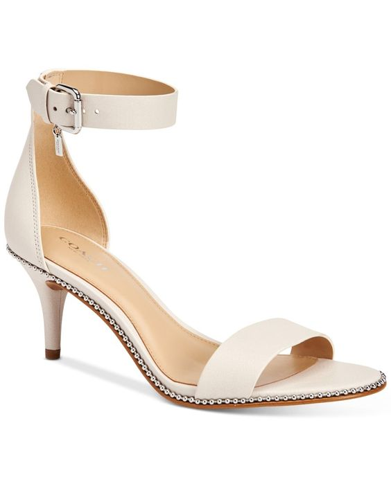 COACH Maude Two Piece Kitten Heel Dress Sandals | Wedding Stuff