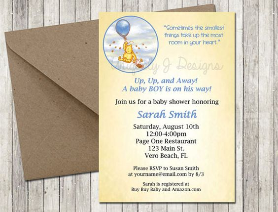 Hey, I found this really awesome Etsy listing at https://www.etsy.com/listing/130880330/classic-pooh-baby-shower-invitation