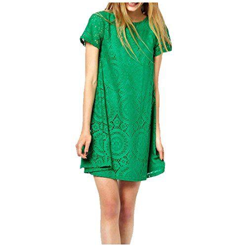 Partiss Damen Frauen europaeischen und amerikanischen Sommer Aermellos Spitze Slim Fit durchbrochenen Mini Kleid Ohne Guertel,Chinese L,Green Partiss http://www.amazon.de/dp/B00YGHLVJM/ref=cm_sw_r_pi_dp_wDdAvb1X360AH