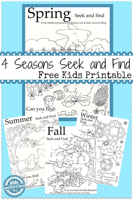 4 Seasons Seek and Find Printables