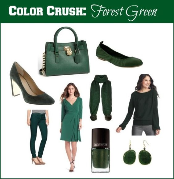 I need more green in my world ~ it a great color! Crushing on forest green for fall 2013!  #fashion #fallfashion #trends #fashionblogger