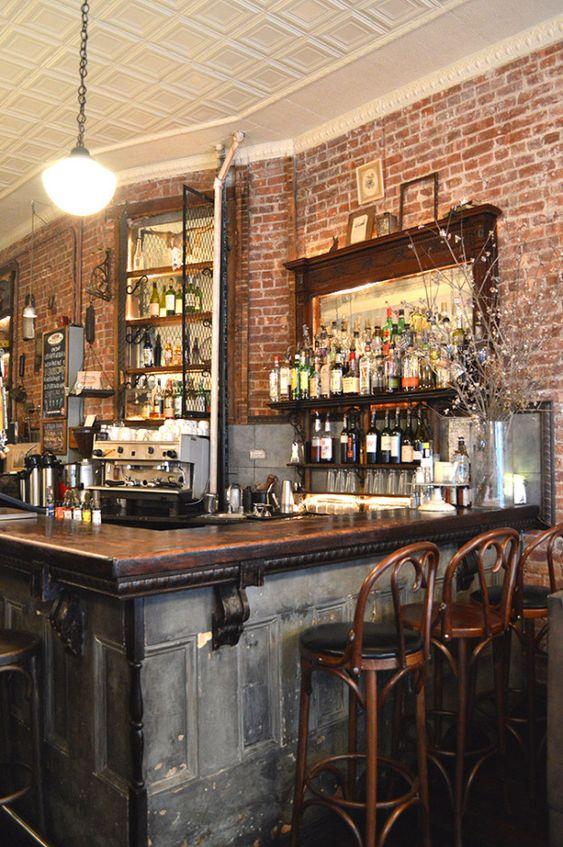 Rabbithole   Brooklyn, NY....fabulous idea for home bar!