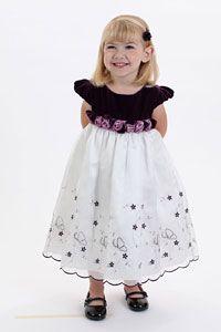 Flower Girl Dresses - Flower Girl-Holiday Plum Velvet Dress Style 859- SALE Sizes 12mth, 18mth, 24mth, 2T, 3T