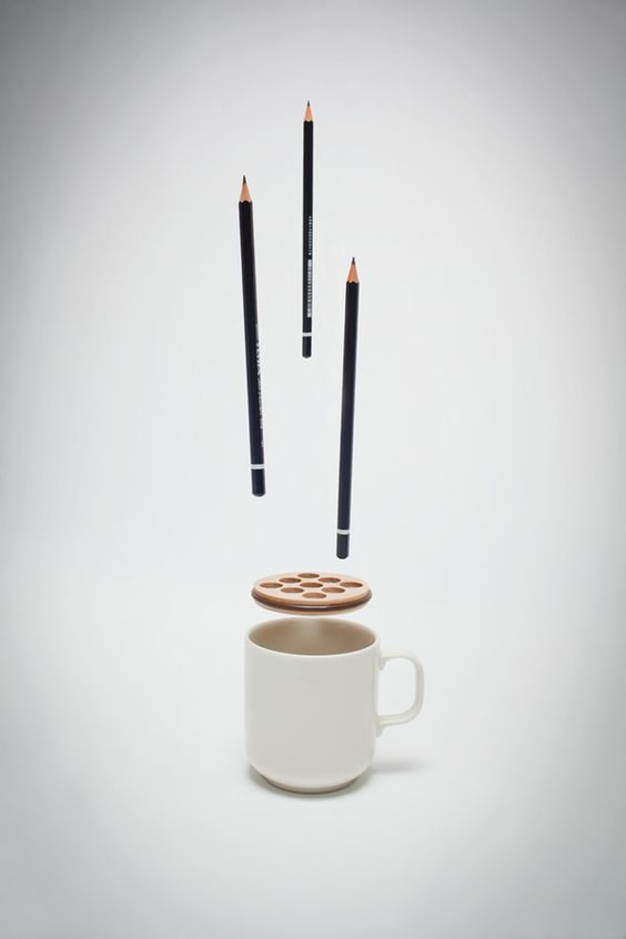 Adapter + Cup = Pencil Holder