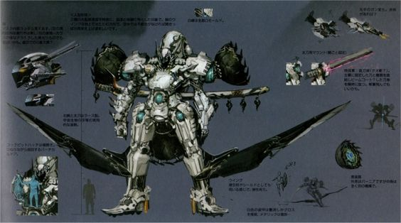 Xenoblade X The Secret File – Art of MIRA - Skell - Black Knight