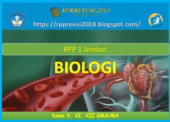 Rpp Biologi 1 Lembar Kelas X Xi Dan Xii Sma Kurikulum 2013 Revisi 2020 Di 2020 Biologi Kurikulum Sma
