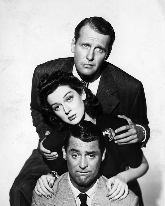 Ralph Bellamy, Rosalind Russell & Cary Grant ~ His Girl Friday, 1940 - this movie was my introduction to Cary Grant. Instantly turned me into a huge fan.