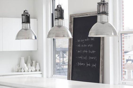 Apartamento en Flatiron - cocina lamparas