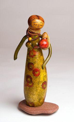 Gourd art from France Benoit