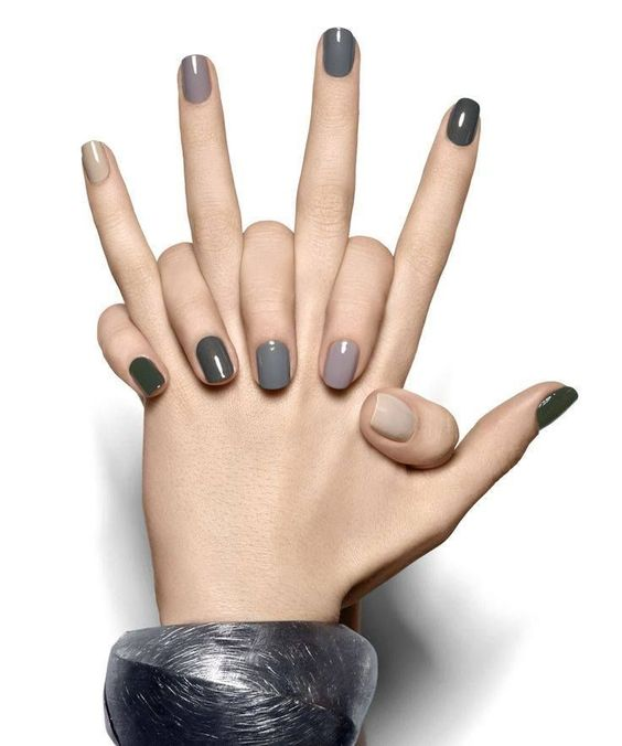 Nail Designs Otoño, Grises, Uñas Gelish Negras, Uñas En Gelish, Uñas De Otoño 2016, La La, Cabello, Maquillaje Otoño 2016, Decoracion Otoño