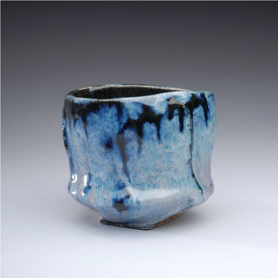 Artist: Jeff Shapiro, Title: Blue Teabowl