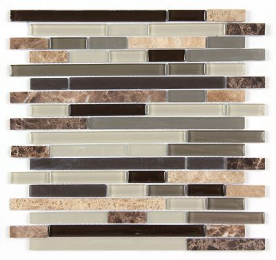 All Marble Mosaic Glass and Stone blend Random Strip 12 x 12 Mosaic Tile Mag-4429-ST from http://AllMarbleTiles.com