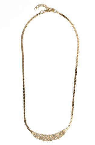 Rhinestoned Braid Necklace