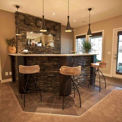 bar ideas the rock basements stones floors stone wrapping bar designs
