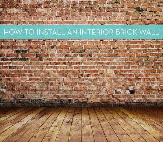 Installing an Interior Brick Wall