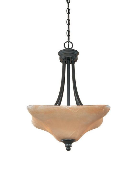 Designers Fountain Lighting 81931 BNB Bella Vista Collection Three Light Hanging Pendant in Burnished Bronze Finish | Quality Discount Lighting